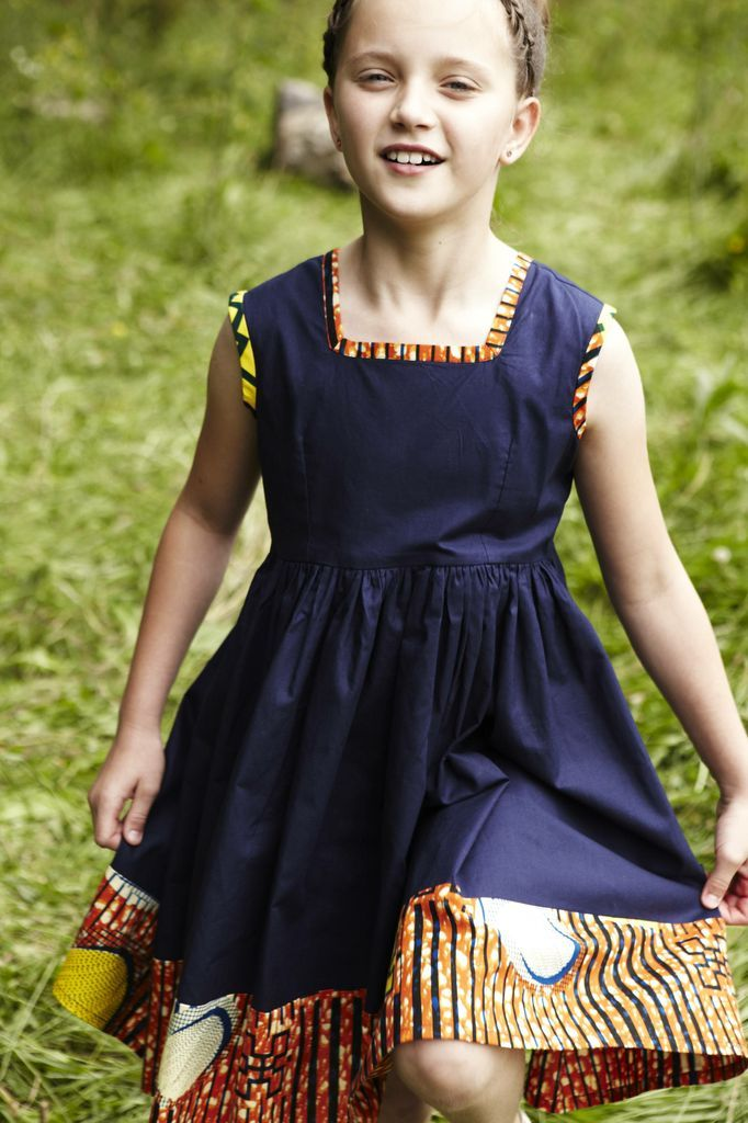 Evita dress £35.00  Evita has a gathered waist making it swing and flow. Frills and layering let a girl feel pretty in blue. A contemporary dress with a classic fit. #fashion #girlsclothes #pinterest #fblogger