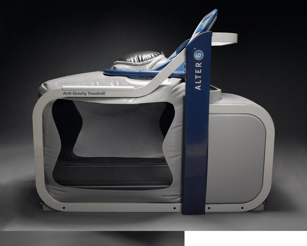 The AlterG allows users to walk or run at  to  percent of their
