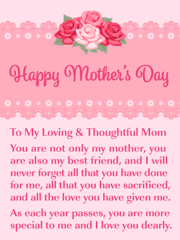 I Love You Dearly Happy Mother S Day Card For Mother Birthday Greeting Cards By Davia Happy Mothers Day Messages Mother Day Message Happy Mothers Day Wishes