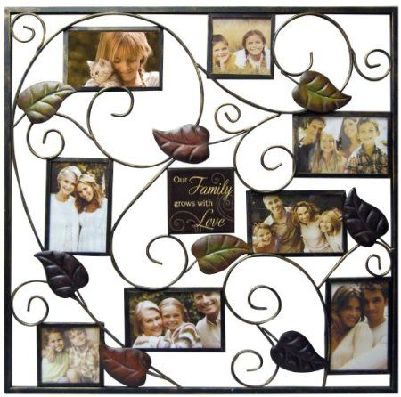 Amazon New View Our Family Metal Stamped Leaf Collage Frame