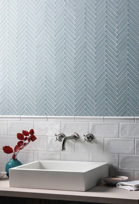 40 Modern Bathroom Tile Designs And Trends Renoguide Australian Renovation Ideas And Inspiration Modern Bathroom Tile Herringbone Tile Bathroom Bathroom Tile Designs