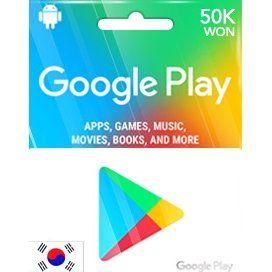 Google Play Gift Card 50000 Won Digital Google Play Google