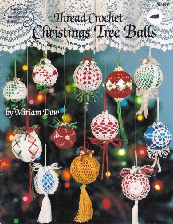 X986 Crochet PATTERN Book ONLY Christmas Tree Balls Thread Crochet