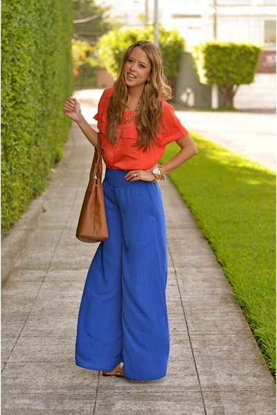 Brown-tory-burch-bag-carrot-orange-h-m-blouse-blue-accento-pants