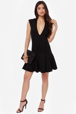 Exclusive Fine By Me Black Dress Dresses Women S