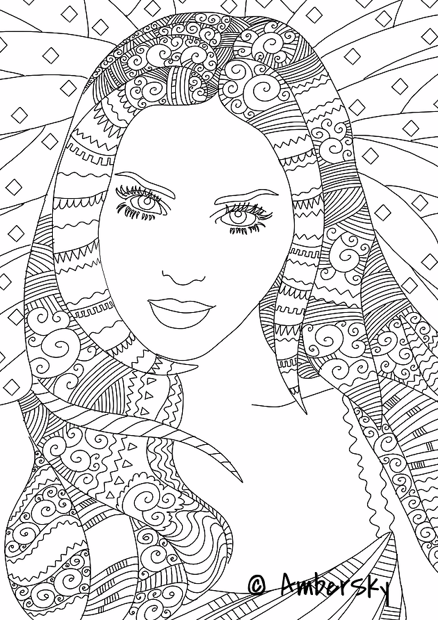 Amber Sky Coloring - Adult Coloring Books, New Ideas, Free Pages ...