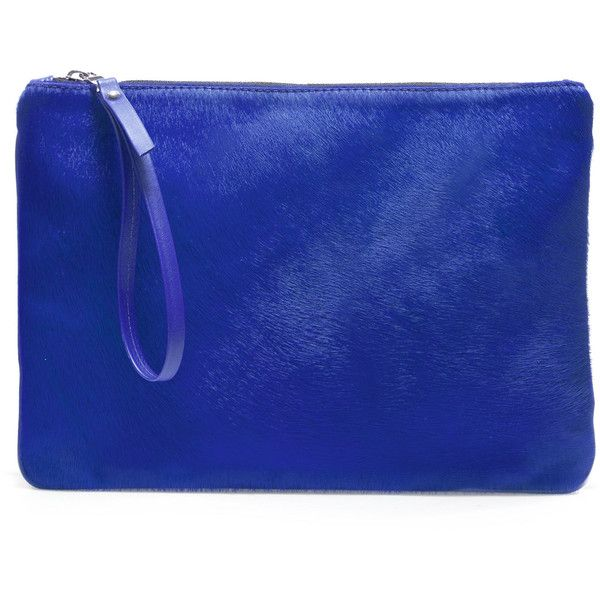 Zara Block Color Clutch Bag (160 BRL) ❤ liked on Polyvore featuring bags, handbags, clutches, purses, blue, zara handbags, colorblock purse, hand bags, zara purse and blue hand bag
