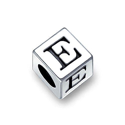 Bling Jewelry 925er Sterling-Silber Bitte Druckbuchstaben E Alphabet Pandora kompatibel - http://schmuckhaus.online/bling-jewelry/bling-jewelry-925er-sterling-silber-bitte-e