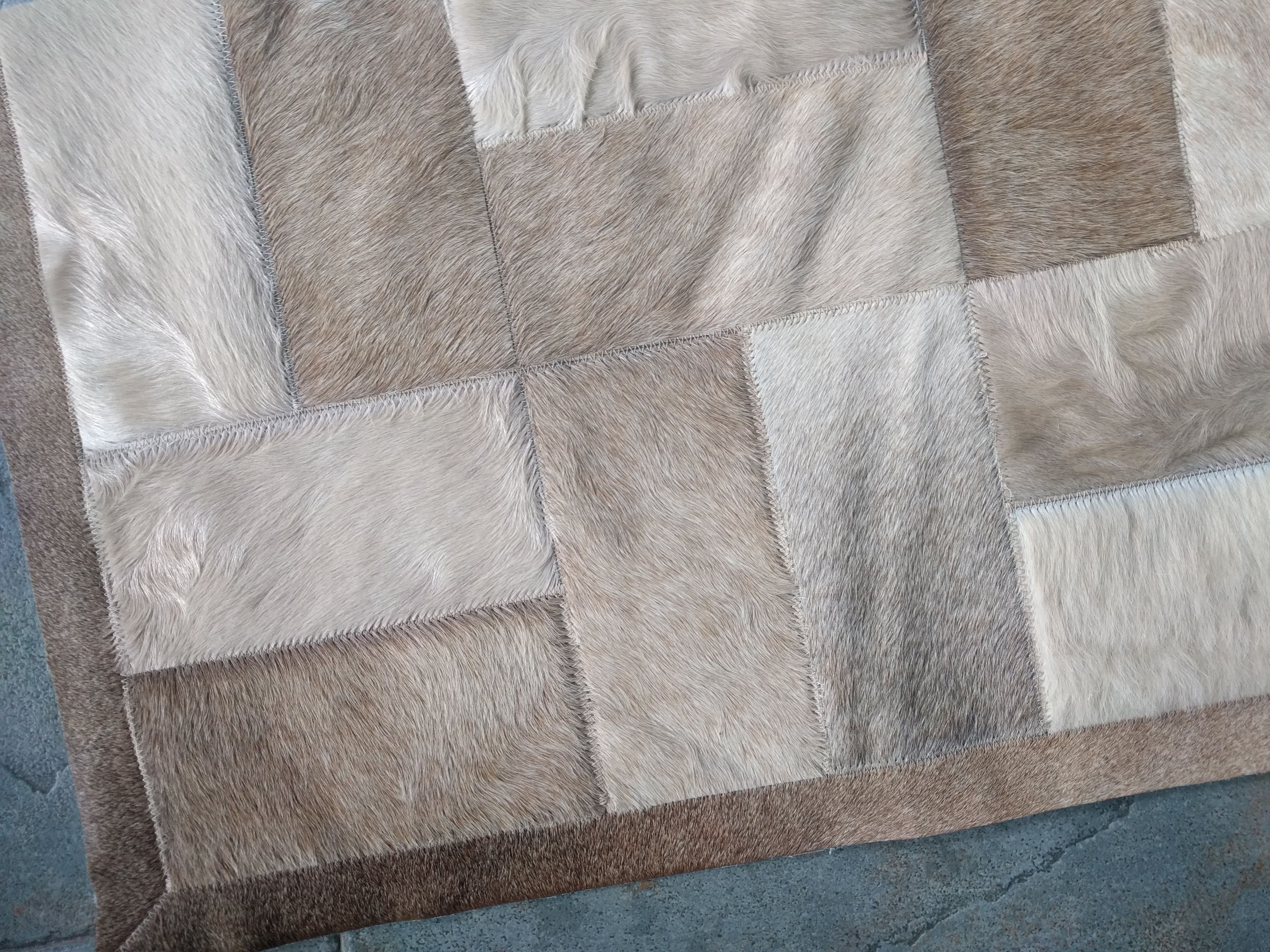 So Soft And Warm Natural Soft Beige Bricks Patchwork Cowhide Rug Shinerugs Com Patchwork Cowhide Rug Patchwork Cowhide Cowhide Patch Rug