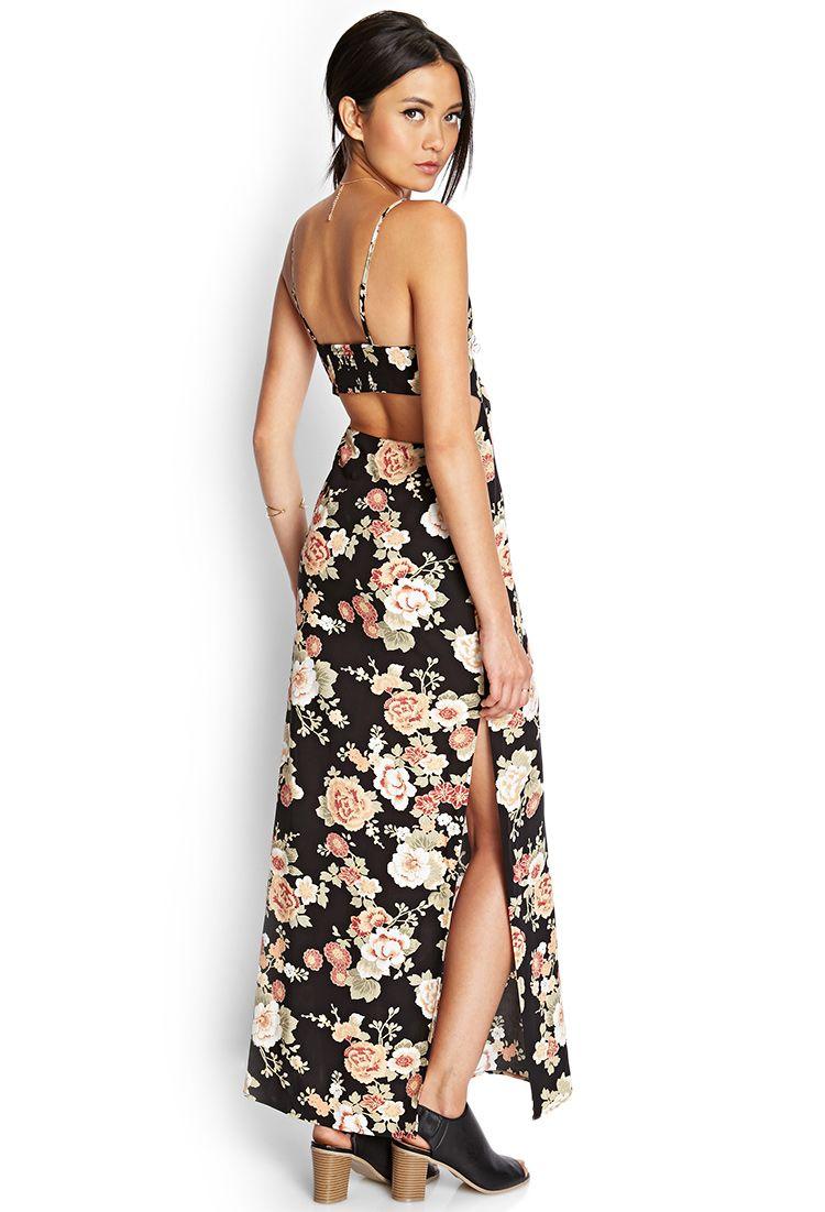a0b93965098 Cutout Floral Maxi Dress