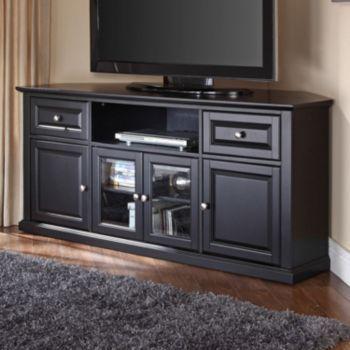 Crosley Furniture Corner Tv Stand Brown Corner Tv Stands Corner