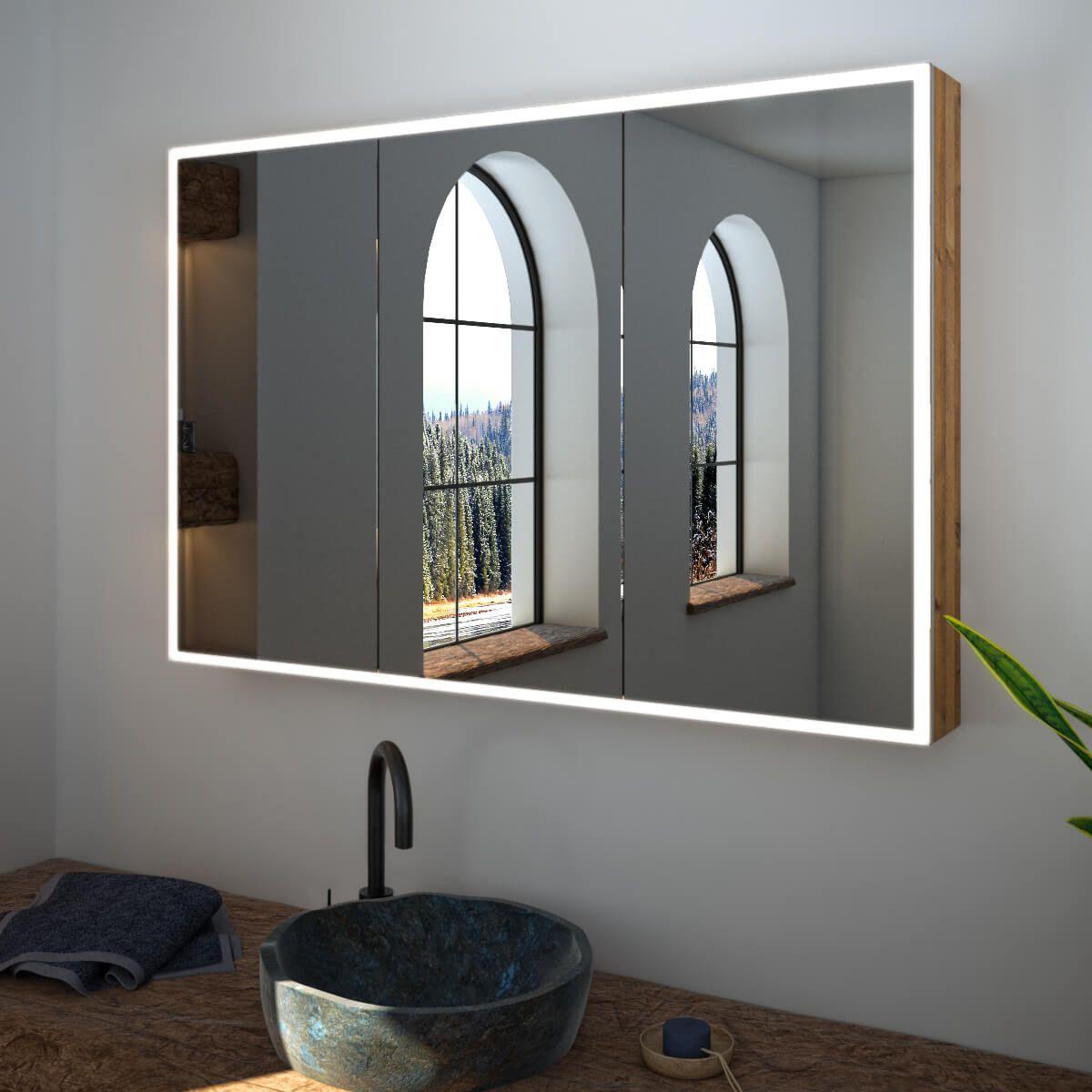 Spiegelschrank Nach Mass Mit Led Credo Spiegelschrank Spiegelschrank Beleuchtung Spiegelschrank Bad