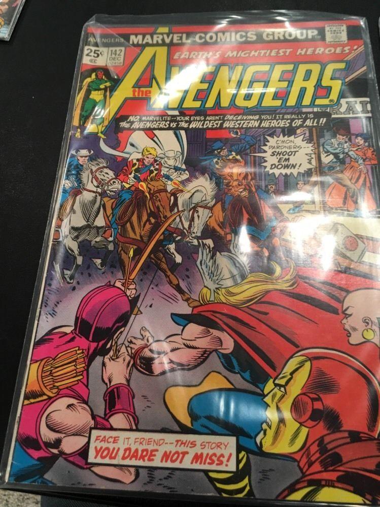 The avengers issues 142 143 148 western hero avengers