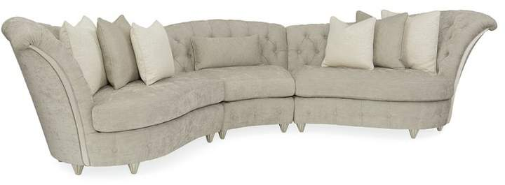 Compositions Chenille Curved Modular Sectional Corner Sectional