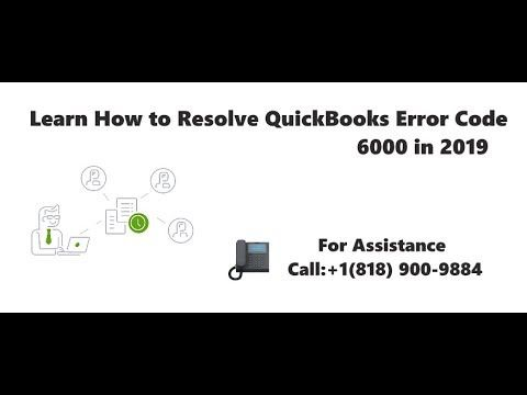 Fix QuickBooks Error 6000 +1-(818) 900-9884 (With images