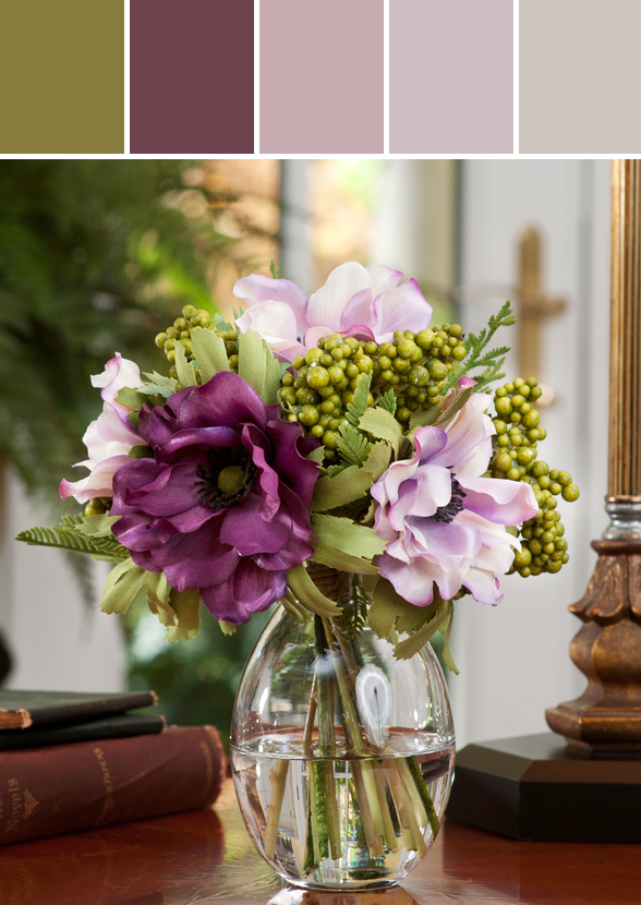 Berry anemone silk flower accent lavenderpurple designed by berry anemone silk flower accent lavenderpurple designed by silkflowers via stylyze mightylinksfo