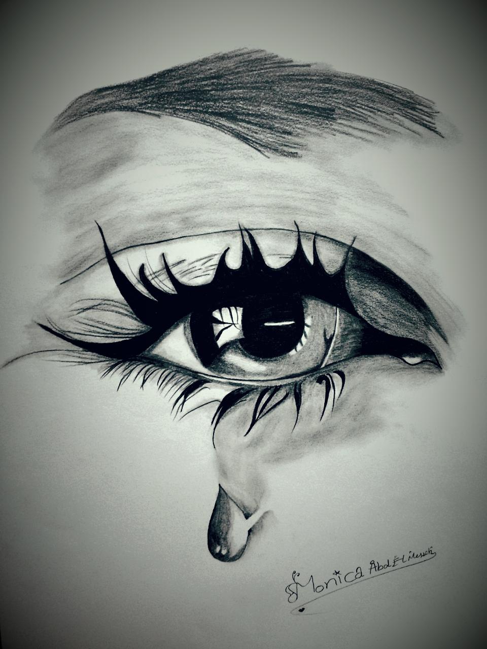 Lagrimas Y Risas Rostros Tristes Ojos Llorando Mujer Llorando