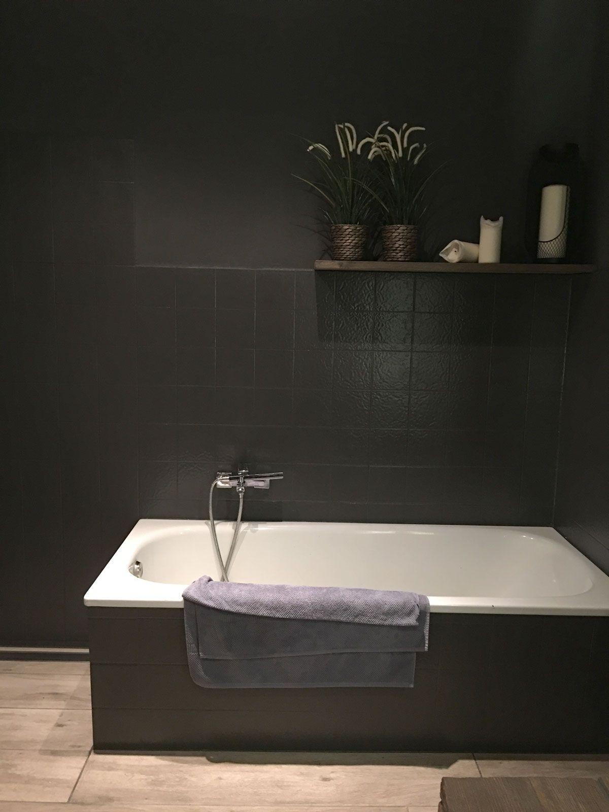 na de renovatie de douchebak is vervangen voor een inloopdouche