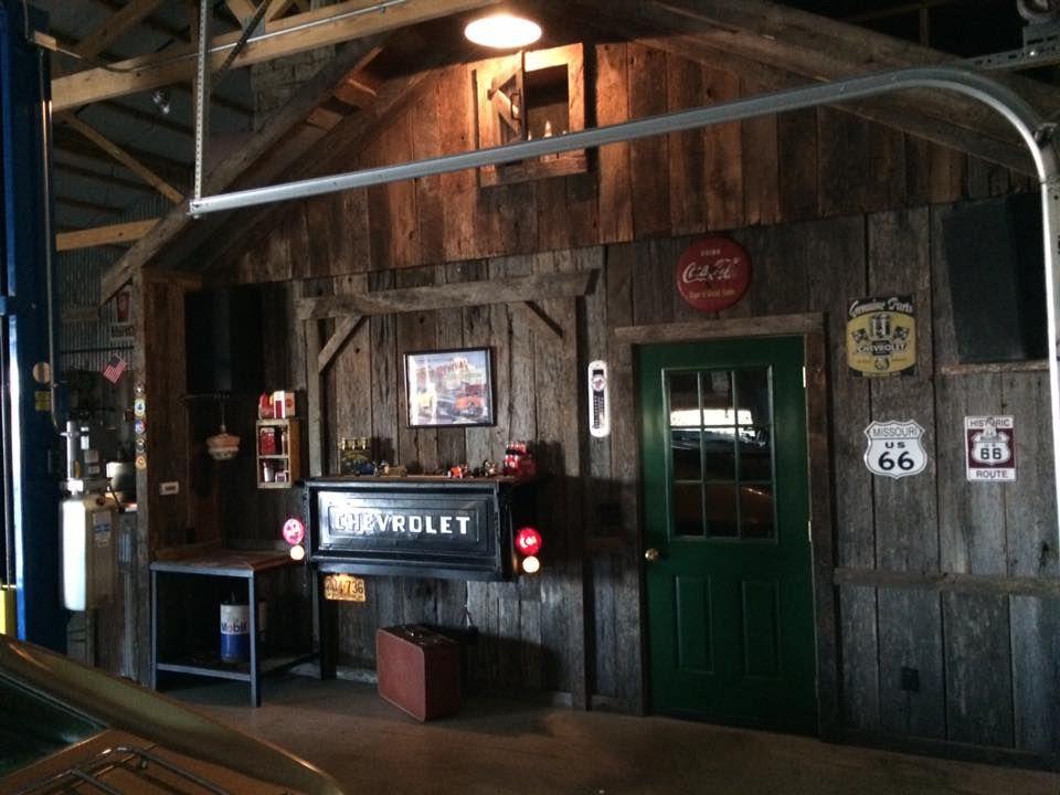 Reclaimed Wood Siding On Interior Garage Wall Garage