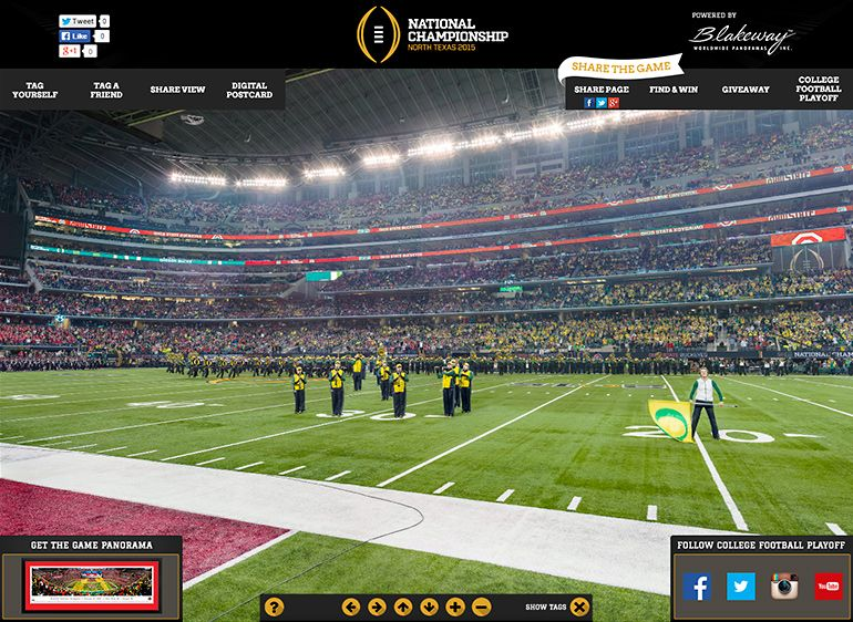 50 Yard Line at Kyle Field Texas A/&M Football Blakeway Panoramas Poster Print