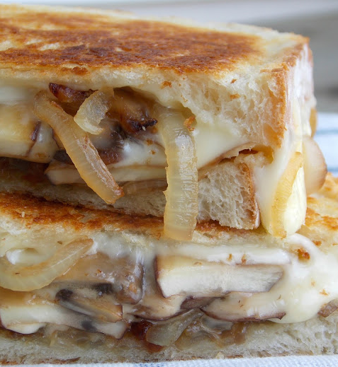Mushroom & Caramelized Onion Grilled Cheese!