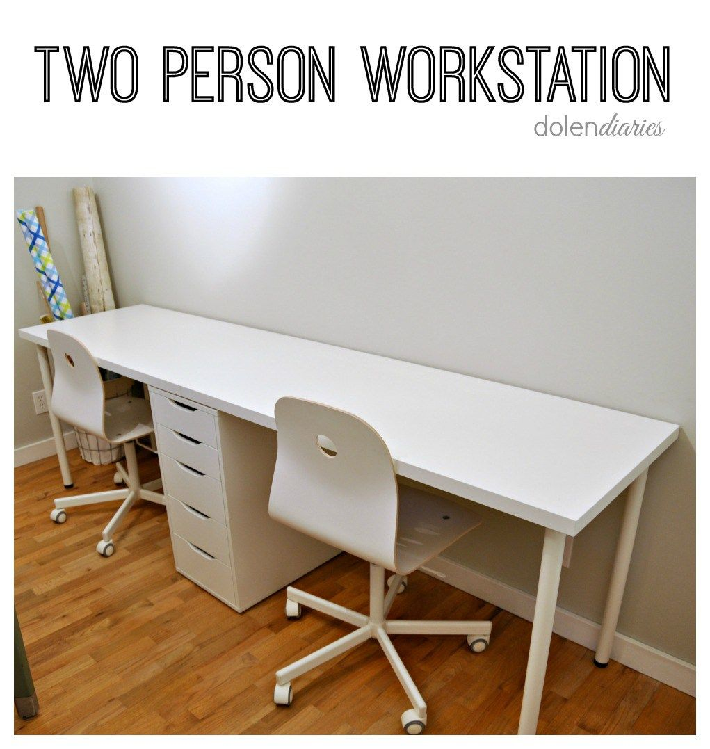 Two Person Workstation | Apartment office, Flats and Organisations
