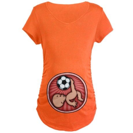 2c57ba666366e Soccer Baby Kick Maternity Dark T-Shirt | Good ideas | Baby shower ...