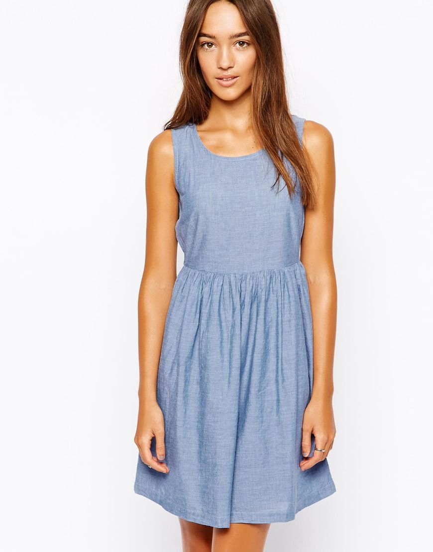 Vero Moda Sleeveless Chambray Dress | BLU | Pinterest | Chambray ...