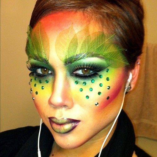 poison ivy halloween makeup