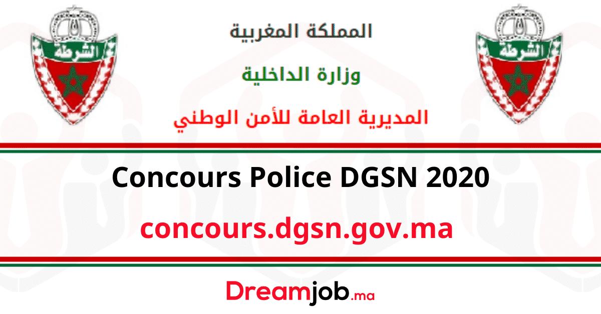 Concours Dgsn Police 2020 7947 Postes Dreamjob Ma Officier De Police Police Gendarmerie Royale