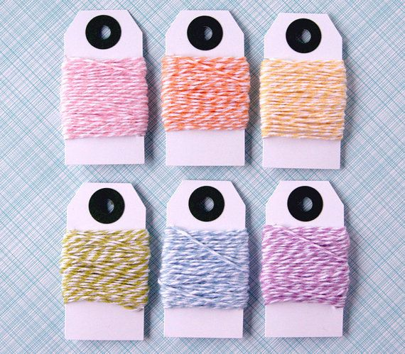 Baker's Twine Mix Pastel Rainbow Pink Yellow by sweetestelle