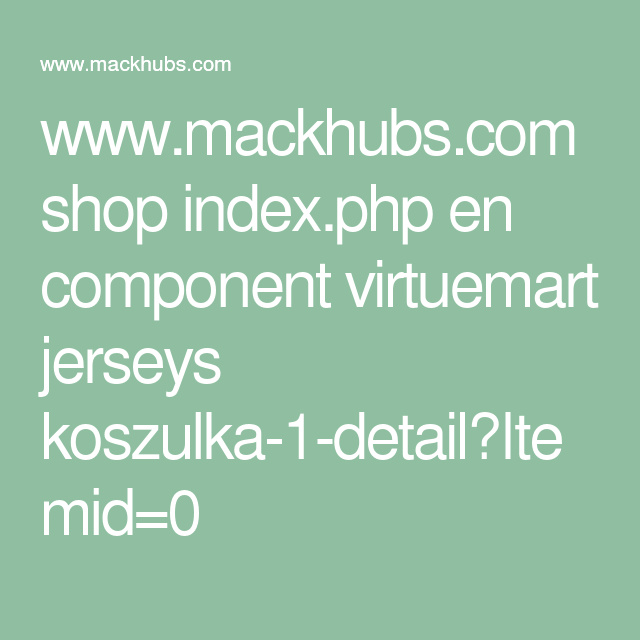 www.mackhubs.com shop index.php en component virtuemart jerseys koszulka-1-detail?Itemid=0
