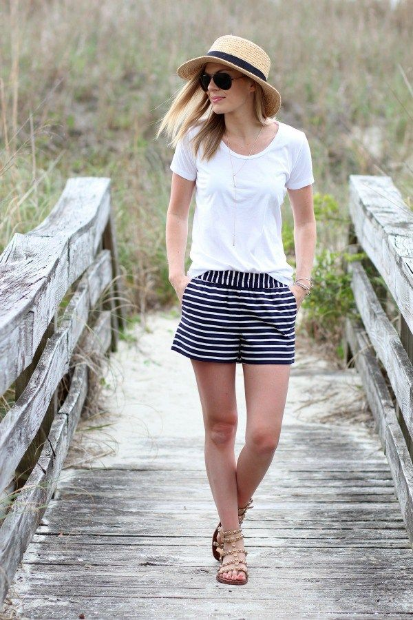 a0966f26346 J.Crew Factory Striped Boardwalk Shorts Under $30 | Life with Emily ...