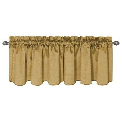 Eclipse Canova Blackout Gold Polyester Curtain Valance, 21 in. Length-10299042X021GO - The Home Depot