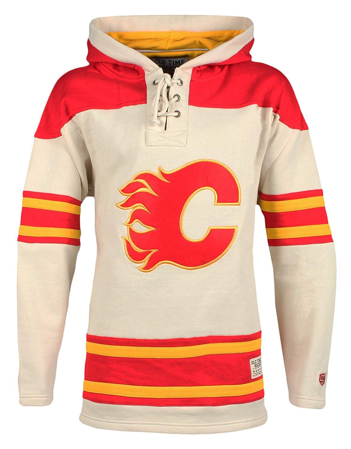 sports shoes da4f2 c9454 NHL Calgary Flames Men's Vintage Lacer Heavyweight Hoodie ...
