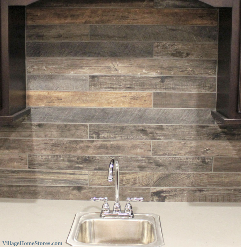 Wood Look Tile Backsplash In A Coal Valley Il Home By Hazelwood