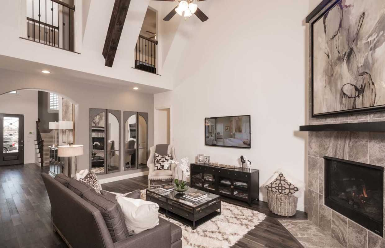 Delicieux High Beamed Ceilings Help Make This A Wow Worthy Living Room. Prairie View  / · Highland HomesTiled ...