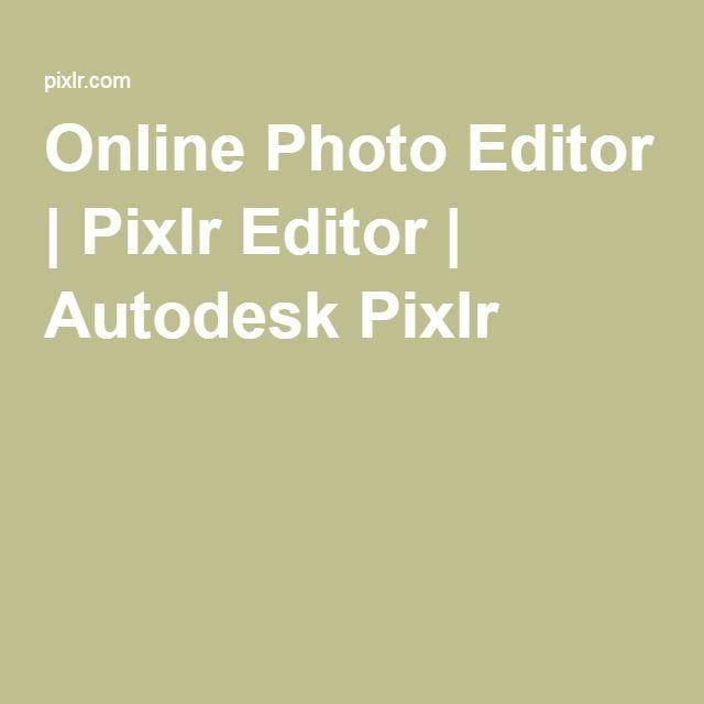Online Photo Editor | Pixlr Editor | Autodesk Pixlr