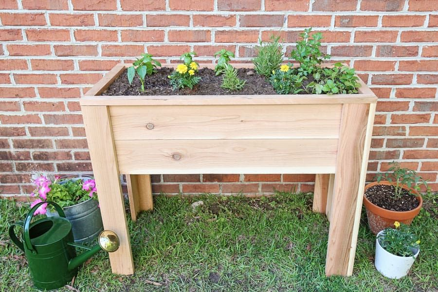 How to Build a Raised Garden Bed with Legs in 2020