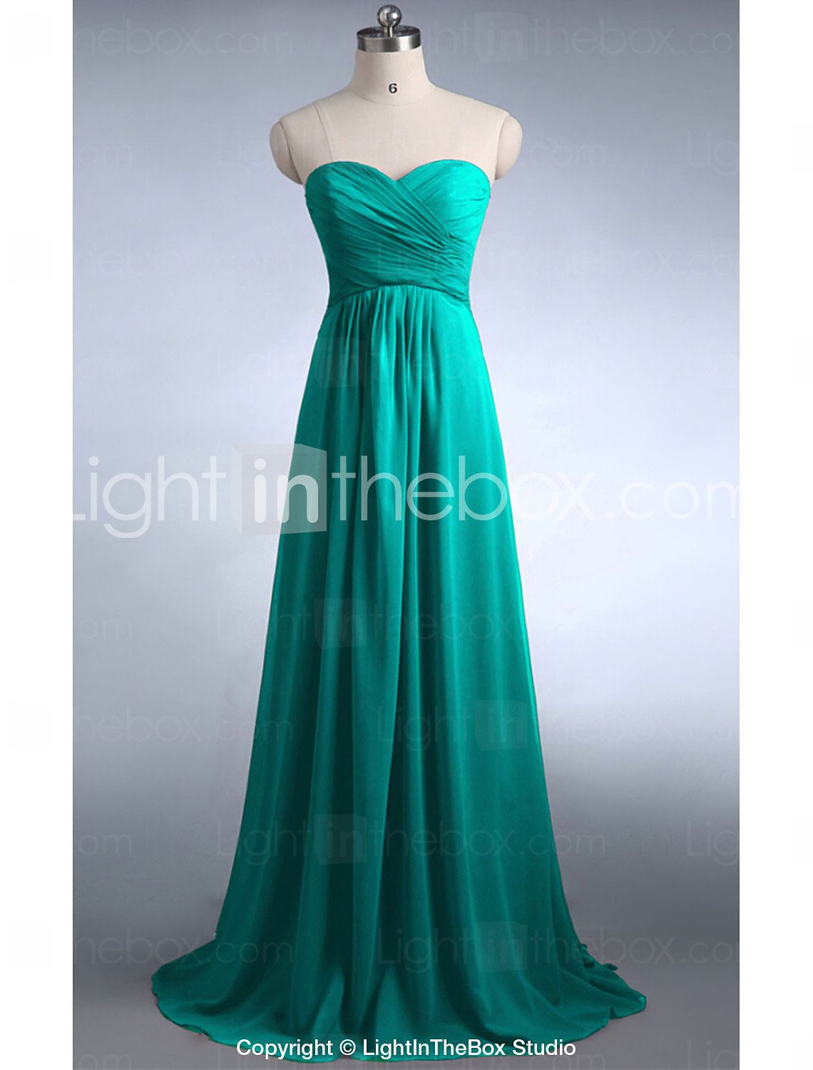 A-Line Strapless Floor Length Chiffon Bridesmaid Dress with Criss ...