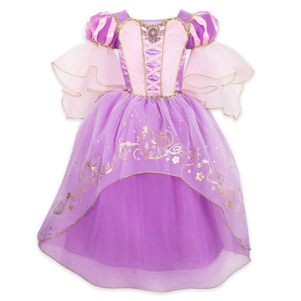 Accessories Birthday Party Disney Rapunzel Deluxe Dress Costume Set for Kids