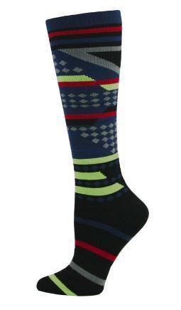 Think Medical Aztec Stripe Mens Compression Socks for Nurses Size 10-13