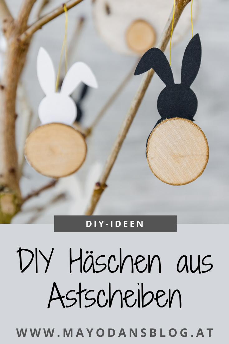 DIY Häschen aus Astscheiben