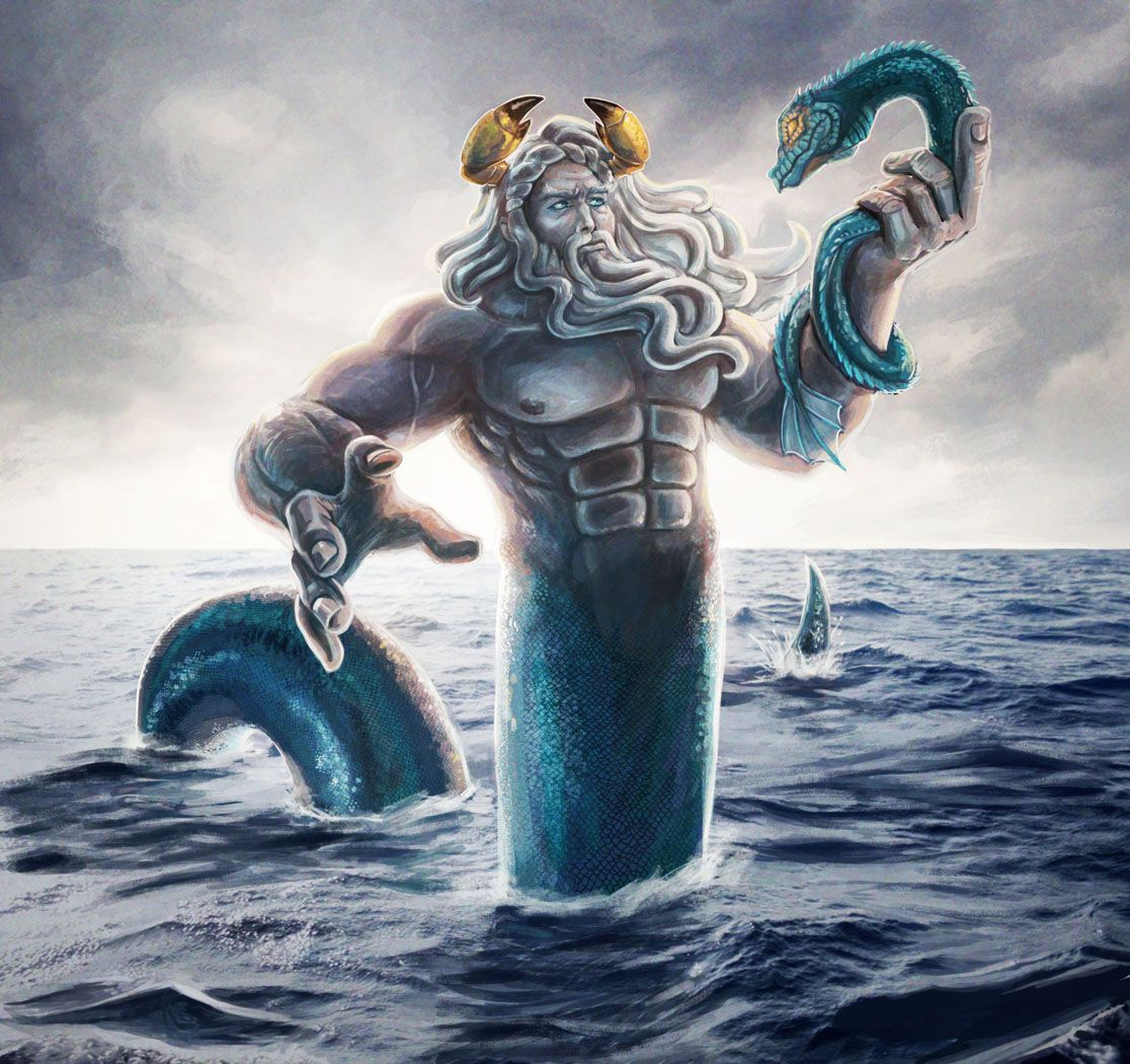 oceanus greek myth a titan that personified the oceans he was