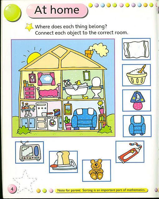 Ingles La Casa Casa En Ingles Fichas Ingles Para Ninos
