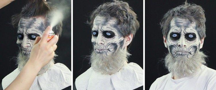 Weiße Wanderer Schminken Halloween Bart Haare Halloween