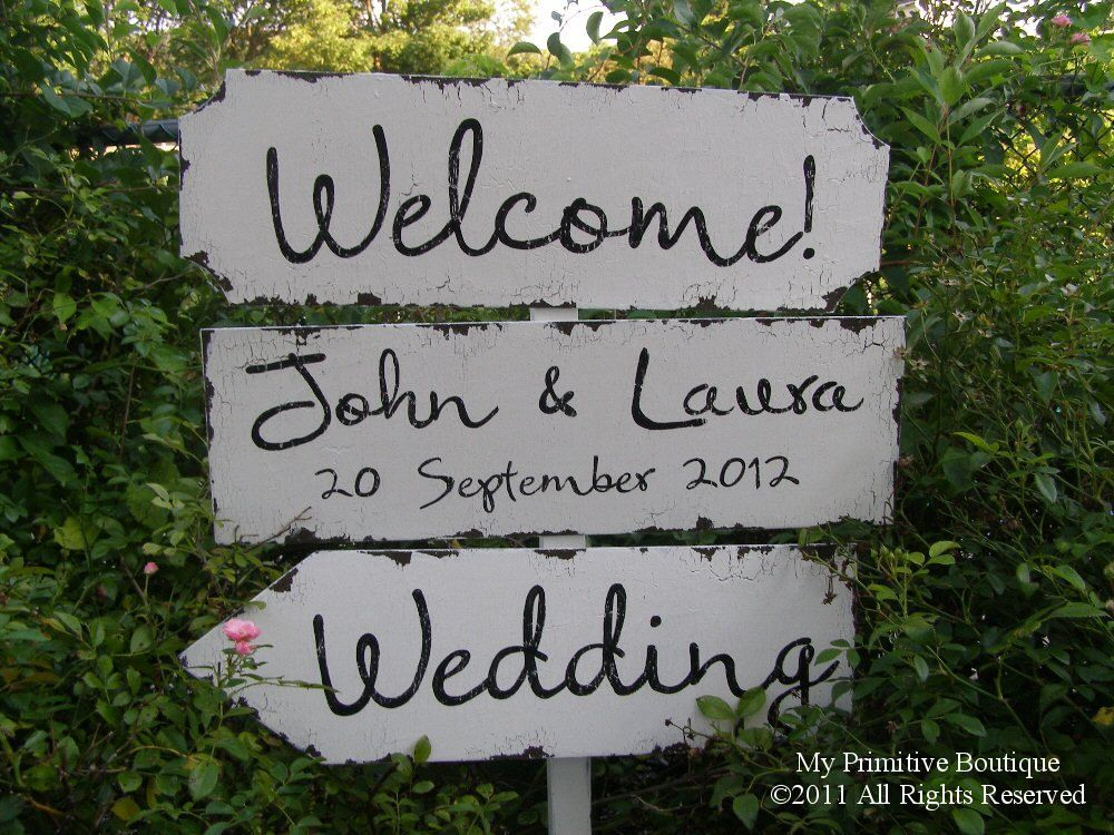 Vintage Wedding Sign Package. 3 Signs. Wedding Sign