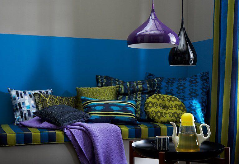 Mit dunkler Wandfarbe streichen \u2013 15 Profitipps! Schreibeffekt - wohnzimmer grun grau streichen