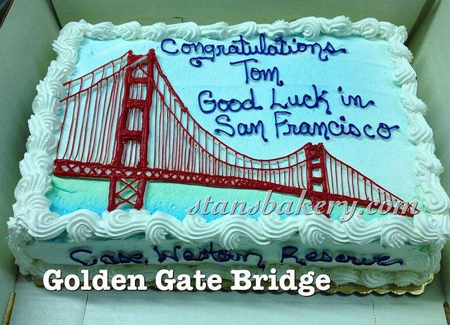 Golden Gate Bridge Cake Cake Themed Cakes Golden Gate