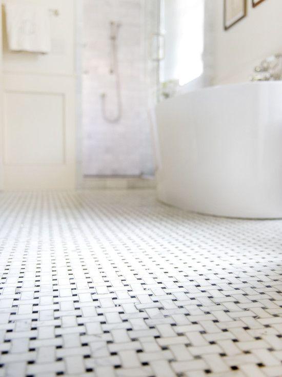 1920 S Tile Floor Tile In Half Bath In New House Basket Weave Tile Basketweave Tile Floor Black And White Tiles Bathroom